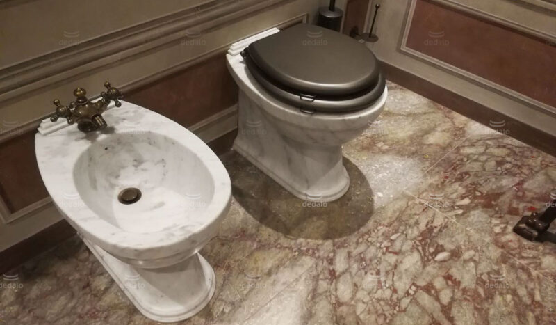 Marble toilet fixtures