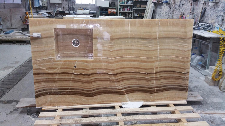 onyx marble countertop