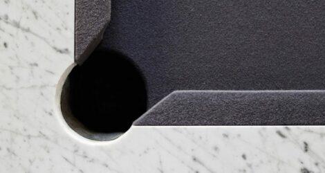 biliardo di lusso moderno in marmo bianco
