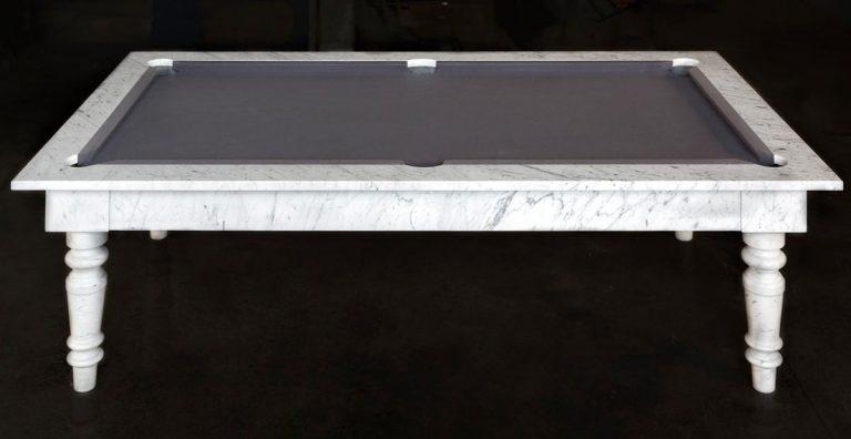 white modern pool table