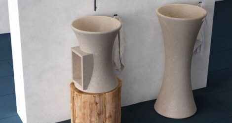 modern pedestal marble sink