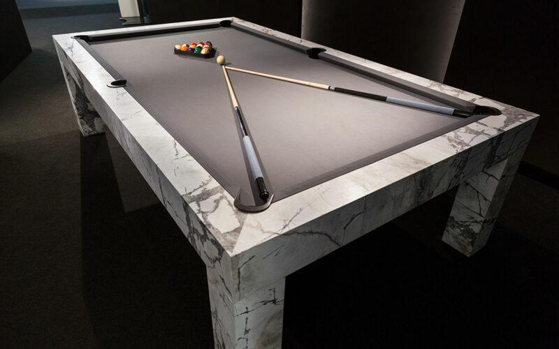 modern pool table in marble