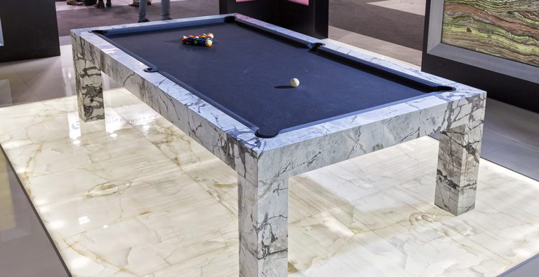 modern marble pool table