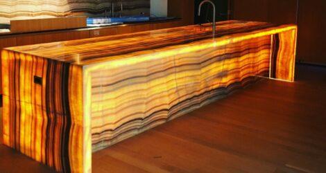 Backlit Onyx Kitchen