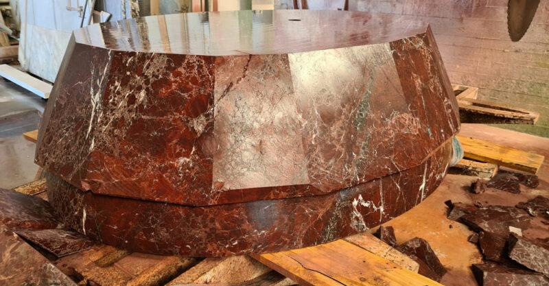 rosso leavanto marble