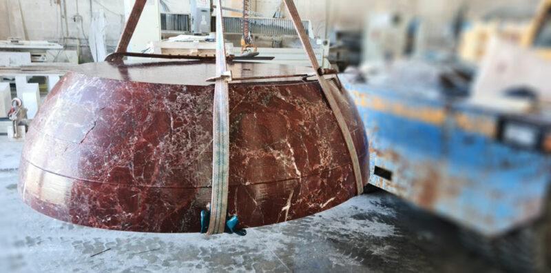red stone bathtub
