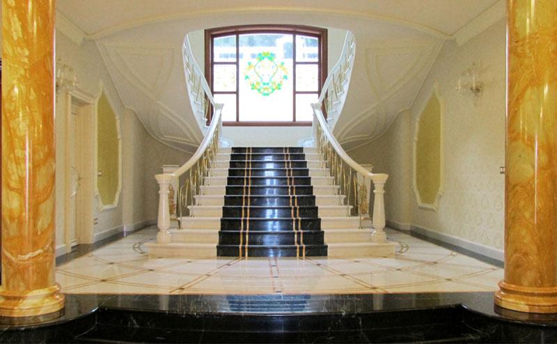 utilizzi marmo giallo siena - colonne interne