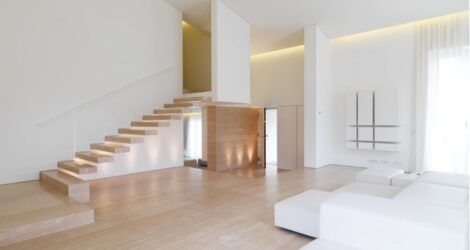 modern stairs and steps in travertine