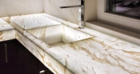 lavelli in marmo per cucine su misura