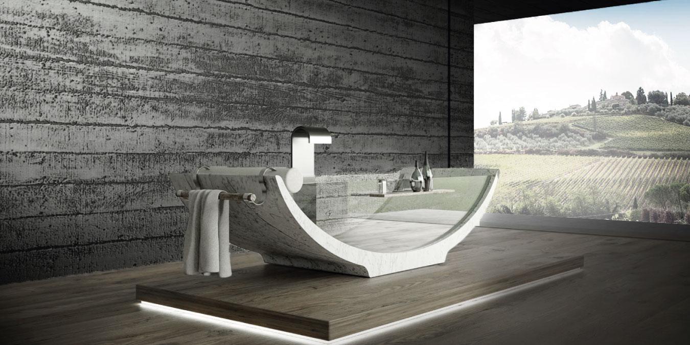luxury and modern marble bathtubs
