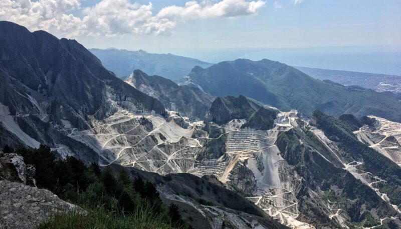visiting carrara marble quarries on my own panorama
