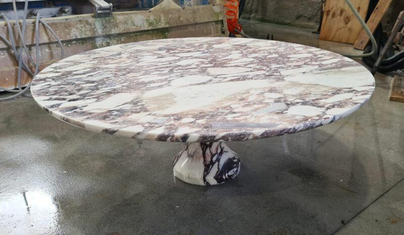 calacatta viola marble table