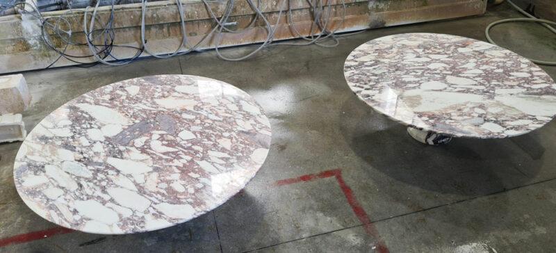 tavolo in marmo calacatta viola