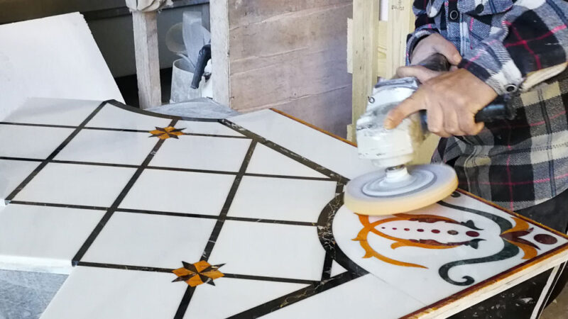 how to polish marble by hand