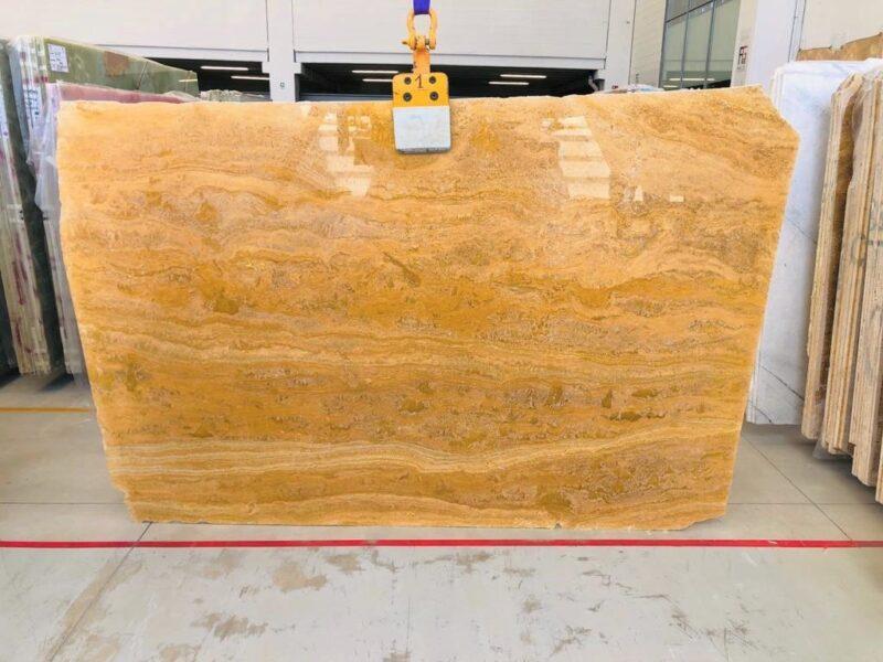 yellow travertine sheet